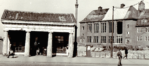 The Millerntor Guard House and the Museum for Hamburg History 1945, just after the end of the world war.